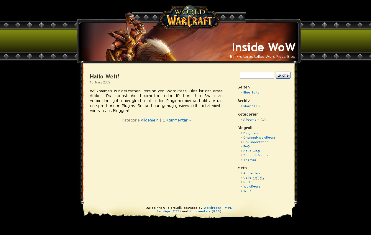 Templates for WoW - free World of Warcraft templates