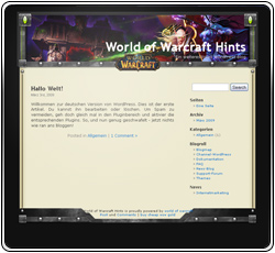 World of Warcraft Hints Template