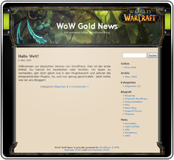 WoW Gold News Template